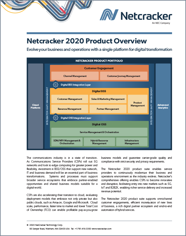 Netcracker 2020 Product Overview